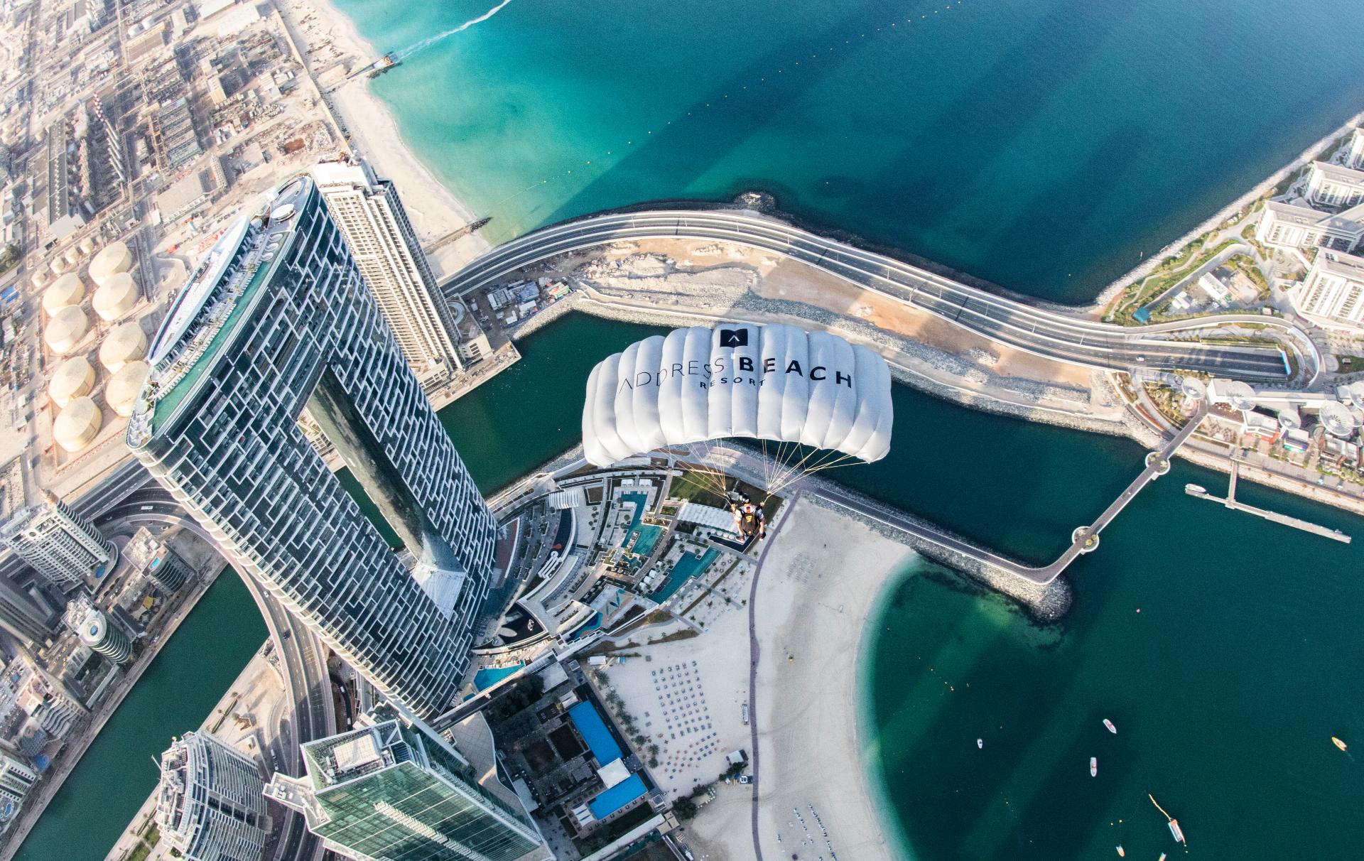 világ legmagasabb tetőmedencéja Address Beach Resort Dubaj