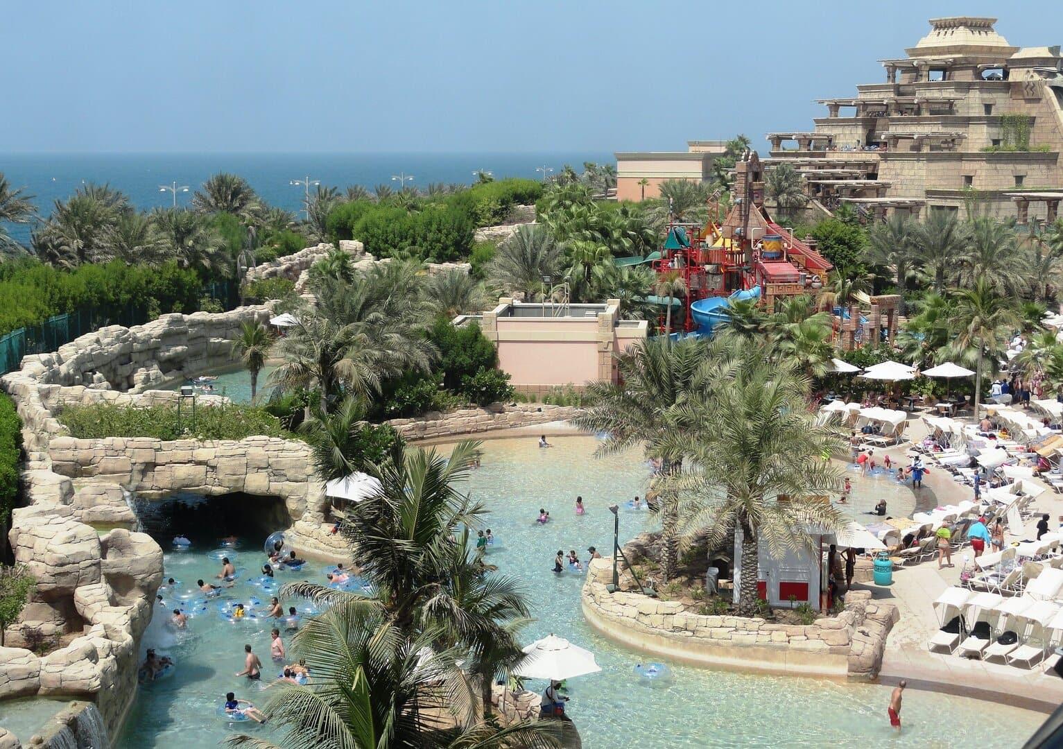 Emirates ingyen csúszdapark aquaventure Dubaj